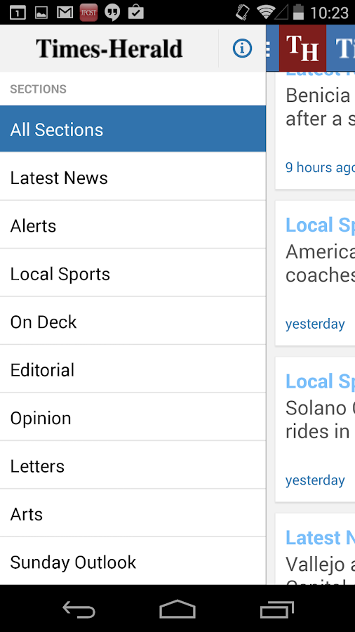 Vallejo Times Herald- screenshot