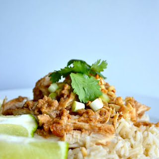 Skinny Crock Pot Thai Peanut Chicken.