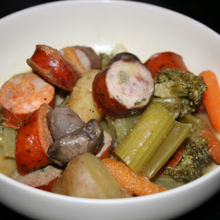 Slow Cooker: Sausage and Veggie Medley