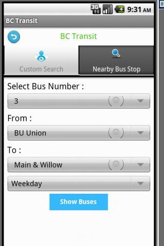 greenBus - screenshot