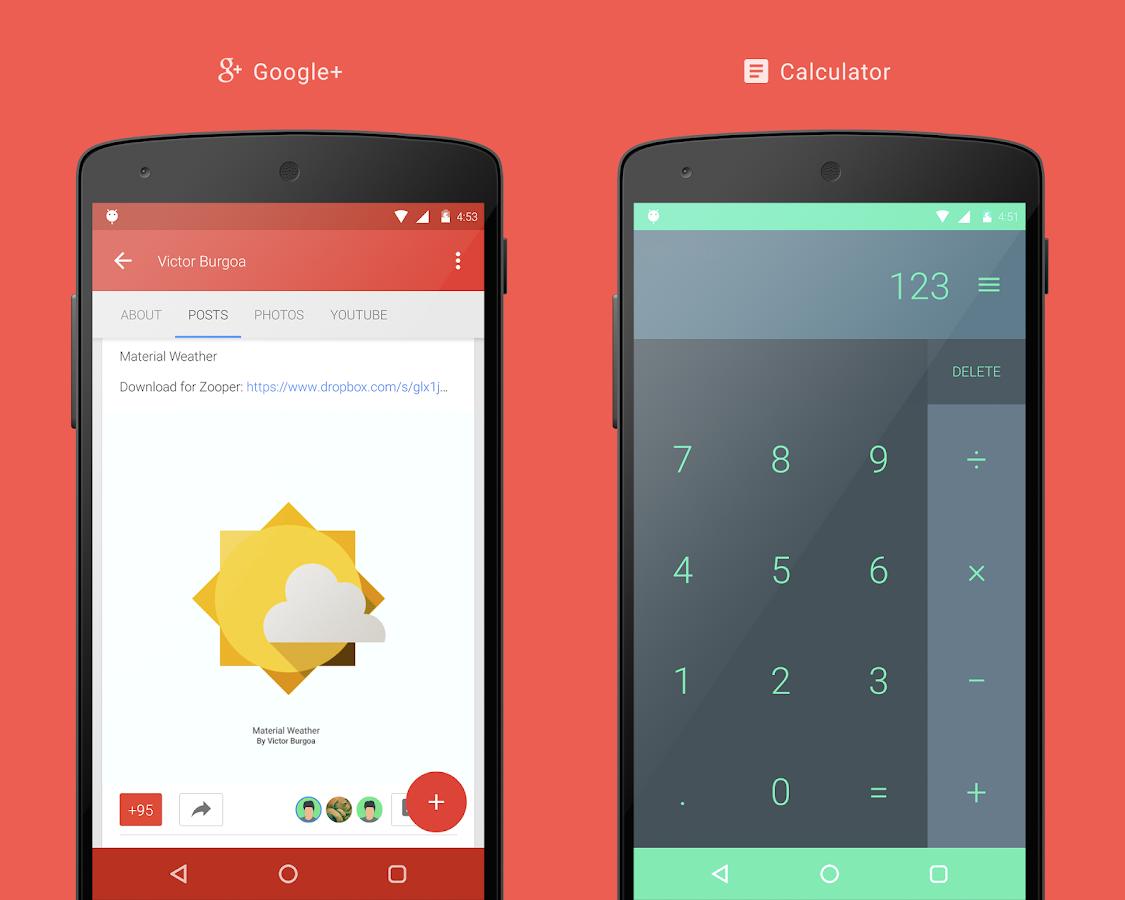 Google themes delete - Vi Material Design Theme Screenshot