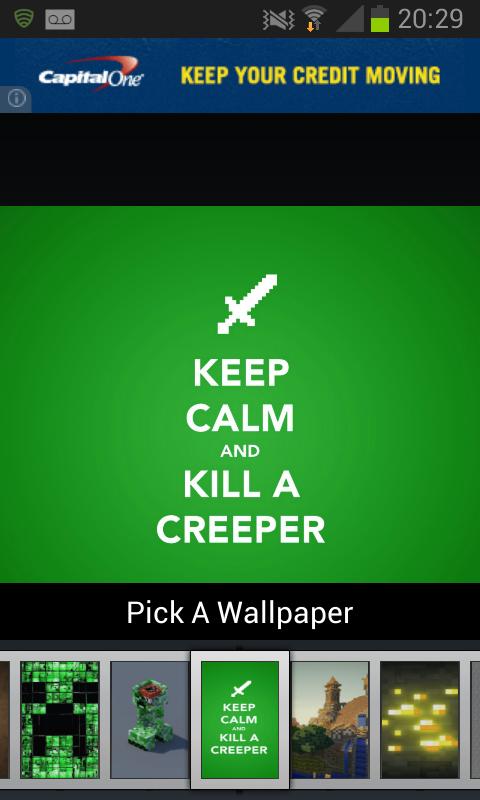 Wallpapers for Minecraft: captura de pantalla