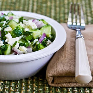 Cucumber, Onion, and Parsley Salad.