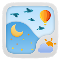 RAINBOW THEME GO WEATHER EX icon