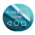 L BLUE Android Theme CM11/PA icon