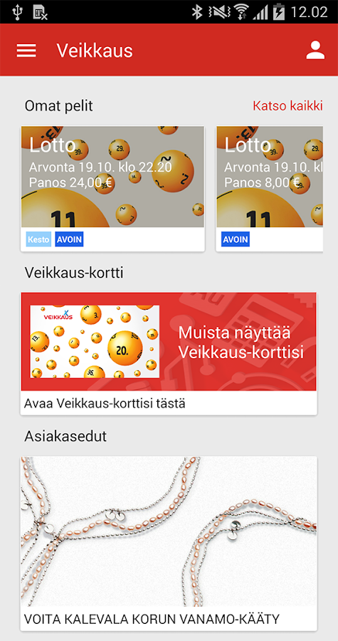 Veikkaus - screenshot