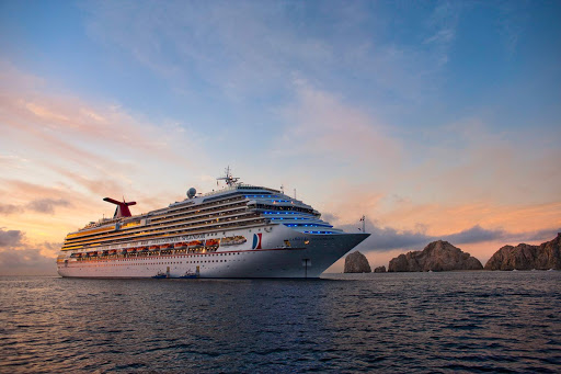 Carnival-Splendor-Cabo-2 - The 952-foot Carnival Splendor takes cruise lovers on voyages of two to five or six to nine days.