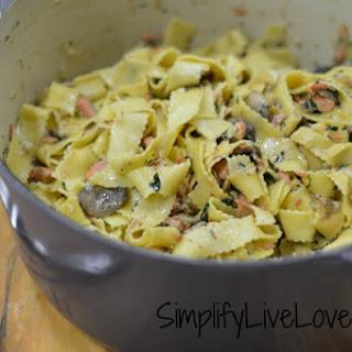 Salmon Mushroom Pasta Recipes.