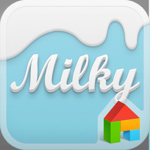 个人化のミルキースカイ ドドルランチャーテーマ LOGO-記事Game