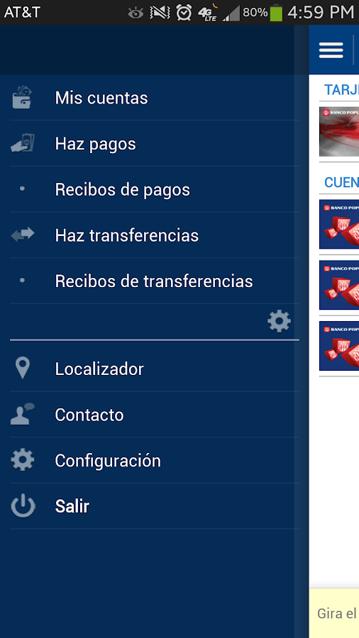 Mi Banco Mobile - screenshot