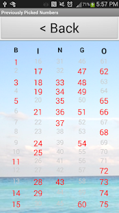 Bingo Number Generator- screenshot thumbnail
