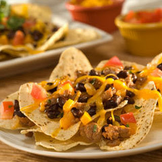 Turkey & Black Bean Super Nachos.