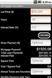 Mortgage Calculator Ad-Free - screenshot thumbnail