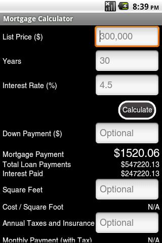 Mortgage Calculator Ad-Free - screenshot