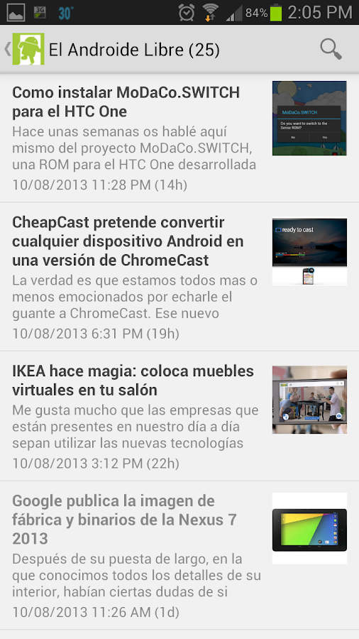 Notidroid - Noticias Android - screenshot