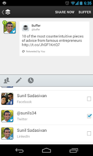 Buffer (Twitter, Facebook) - screenshot thumbnail