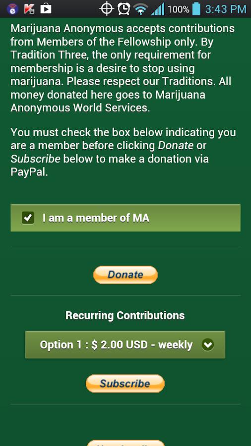 Marijuana Anonymous Δ MA - screenshot