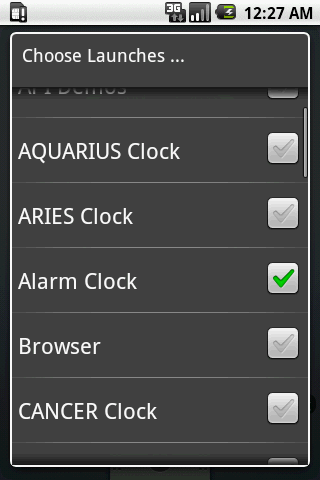 AQUARIUS - Zodiac Clock - screenshot