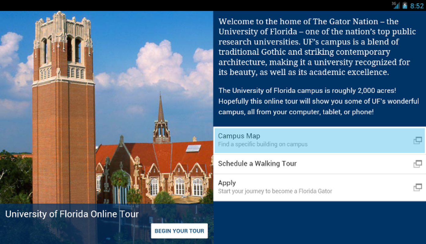 University of Florida Tour- screenshot
