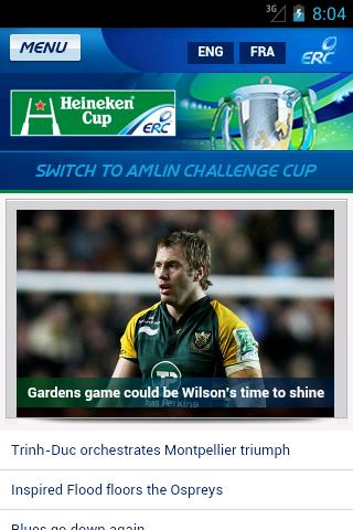 The Heineken Cup - screenshot