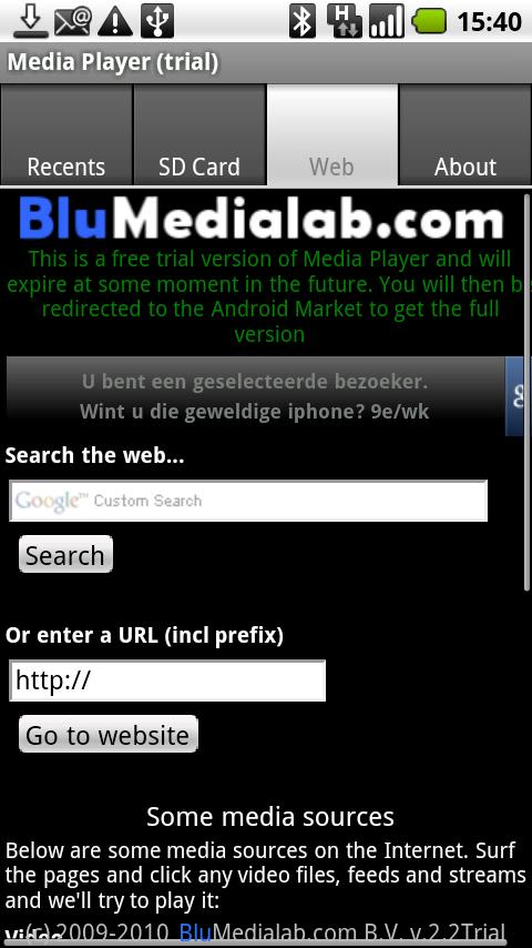 Media Player (trial) - screenshot