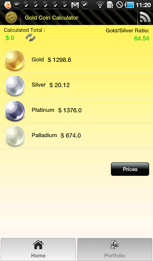 Gold Coin Price Calculator - screenshot