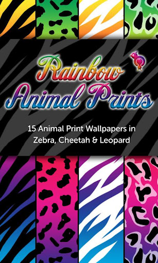 Rainbow Animal Print Wallpaper