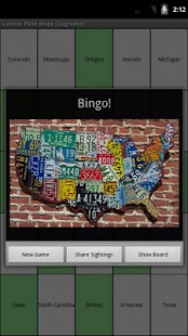 License Plate Bingo - screenshot thumbnail