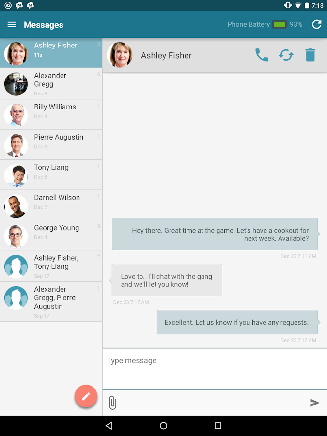 SMS from Tablet & MMS Text Messaging Sync- screenshot