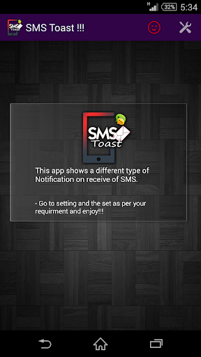 SMS Toast