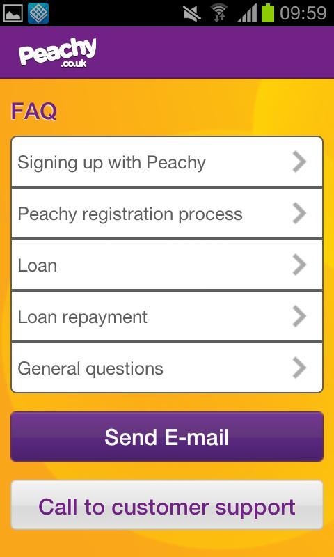 Peachy Loans - screenshot