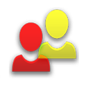 Contact Widget (4 groups) icon