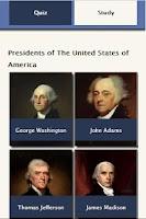 Screenshot of US Presidential Quiz Lite