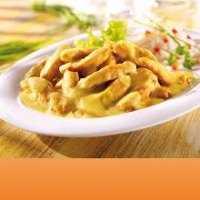 Abbildung Hähnchen Geschnetzeltes in Curryrahmsauce