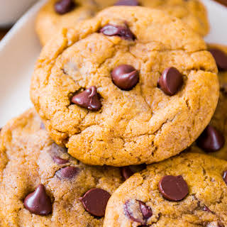 Chewy Pumpkin Chocolate Chip Cookies.