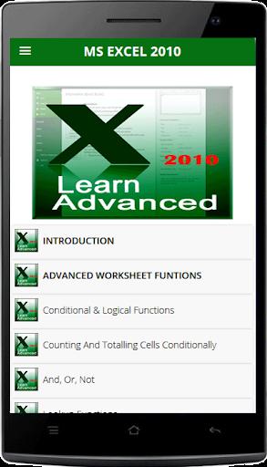Tutorials Excel 2010 Advanced