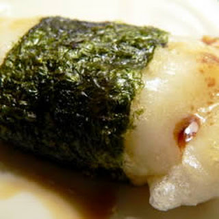 Broiled Mochi with Nori Seaweed