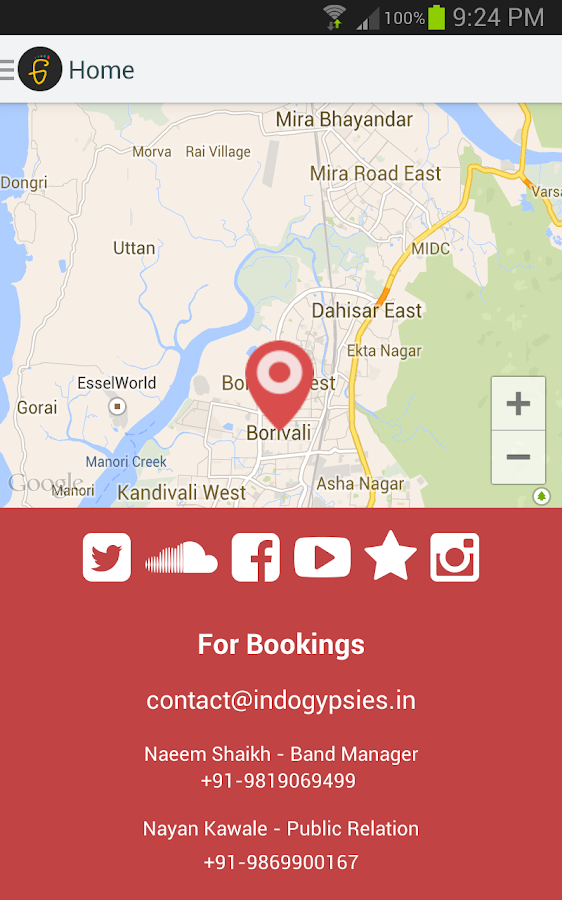 Indo Gypsies - Band App- screenshot