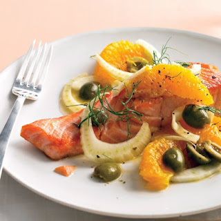 Seared Salmon with Oranges and Fennel.