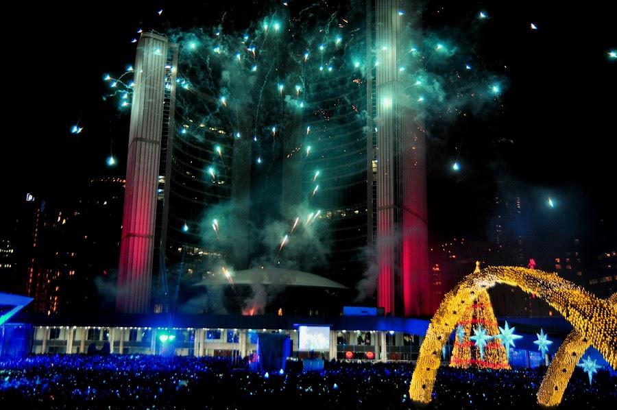 Happy New Years, Toronto Canada by David Chu - Public Holidays New Year's Eve ( @go4david @city tv @new years eve 2014,  )