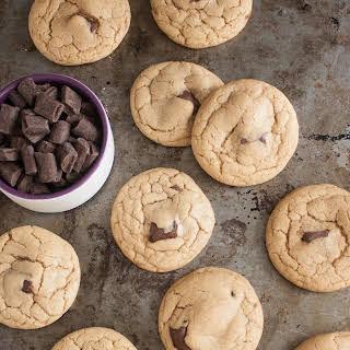 Dark Chocolate Chunk Coconut Oil Cookies.