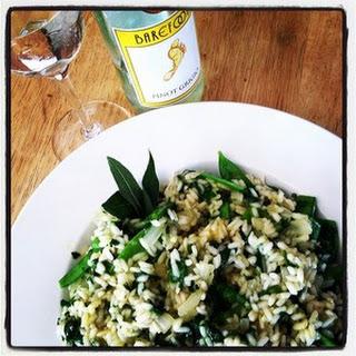 Spinach-and-Sugar Snap Risotto