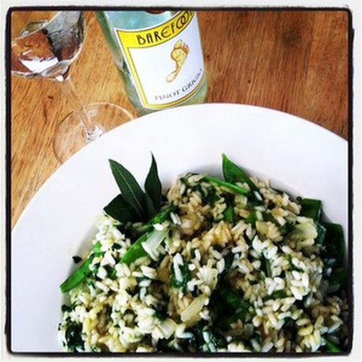 Spinach-and-Sugar Snap Risotto Recipe