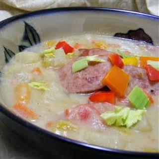 Easy Potato Sausage Soup.