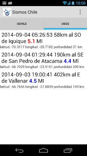 Chile Sismos