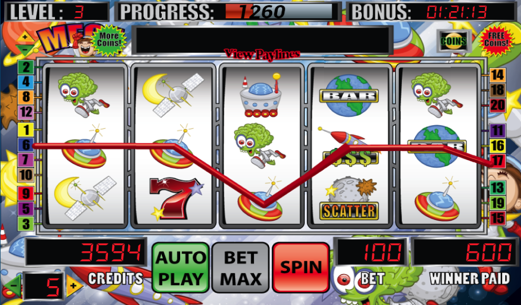 Mega Space Slot Machine- screenshot