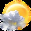 Transparent weather widget mobile app icon