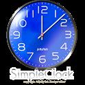シンプルなアナログ時計ウィジェット【ブルー】 icon