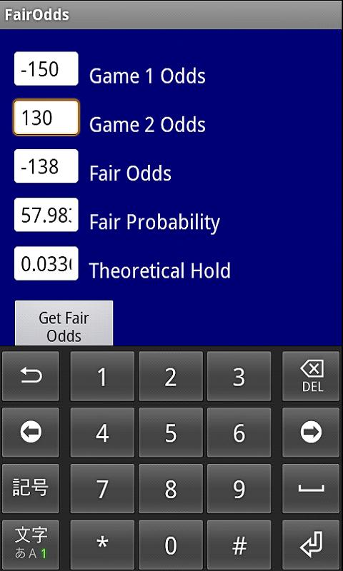 Converting gambling odds to probability