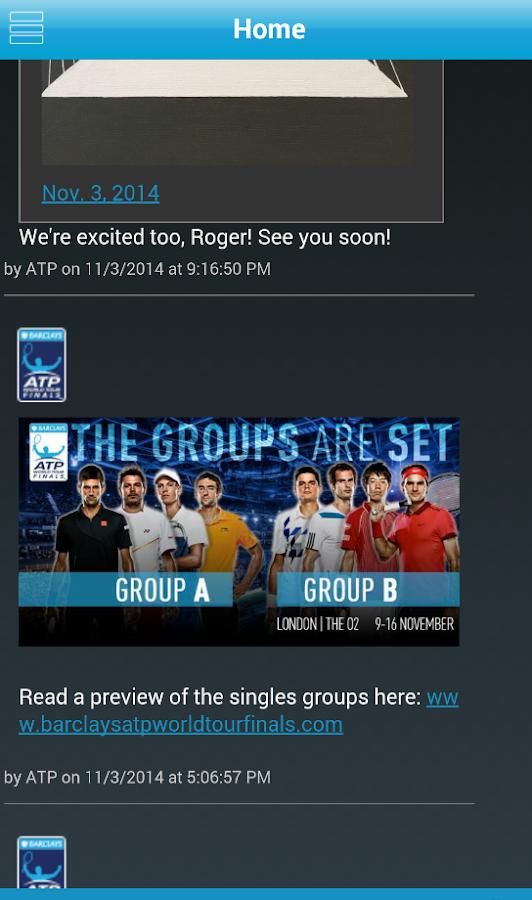 Barclays ATP World Tour Finals - screenshot